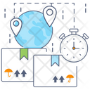 Goods Delivery Logistics Time Delivery Services Icon