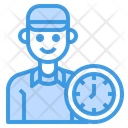 Delivery Logistics Man Icon