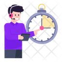 Time Support On Time Service Customer Services Icon