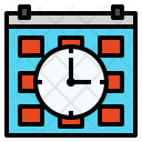 Time Clock Calendar Icon
