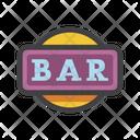 One Bar Machine Sign Slot Machine Sign Icon