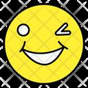 One Eye Close Emoji Emoticon Smiley Icon