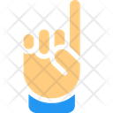 One Finger Hand Sign High Five Icon