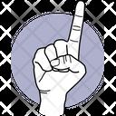 One Finger Finger Fingers Icon