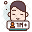 One Million Follower Icon