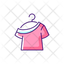 One Shoulder T Shirt Icon