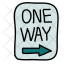 One Way Road Icon