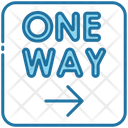 One Way Sign Road Sign Icon