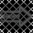 One Way Forward Forward Arrow Direction Arrow Icon