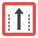 One Way Traffic Straight Icon