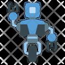 One Wheel Robot Icon
