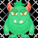 Oni Green Cartoon Devil Icon