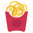 Onion Ring Snacks Junk Food Icon