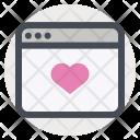 Online Website Love Icon
