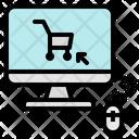 Online Shopping Ecommerce Icon