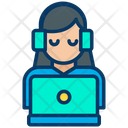 Online Support Call Center Customer Support Icon