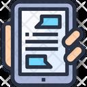 Online Smart Phone Online Entertainment Icon