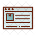 Online Online Data Delivery Information Icon
