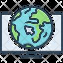 Online Internet Visit Icon