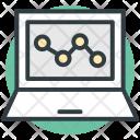 Online Chart Laptop Icon