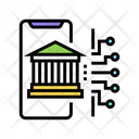 Online Bank Color Icon