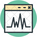 Online Graph Heartbeat Icon