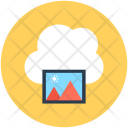 Online Photos Cloud Icon
