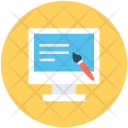 Online Writing Designing Icon