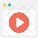 Online Streaming Video Icon