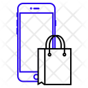 Online Carrybag Cart Icon