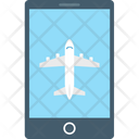 Online Ticket Mobile Air Travel Icon