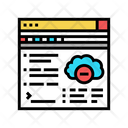 Online Access Cloud Access Online Icon
