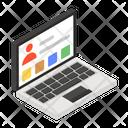 Online Account User Profile Laptop Profile Icon