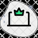 Online Achievement Crown King Icon