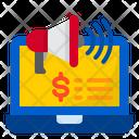 Megaphone Advertise Shopping Icon