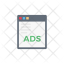 Ad Webpage Advertise Icon