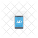 Mobile Advertise Cloud Icon
