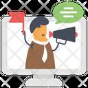Online Advertisement Digital Marketing Publication Icon