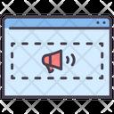 Iweb Advertising Online Advertising Web Advertising Icon