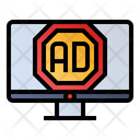 Ad Blocker Advertising Website Icon