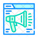 Loudspeaker Web Site Icon