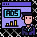 Website Man Ads Icon
