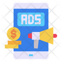Mobile Ads Online Icon