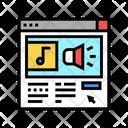 Online Radio Color Icon