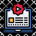 Online Advertising Digital Laptop Icon