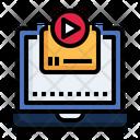 Online Advertising Video Digital Icon