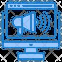 Online Advertising Advertising Magaphone Icon