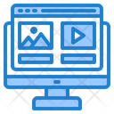 Online Advertising Picrure Content Icon