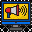 Online Advertising Advertising Megaphone Icon