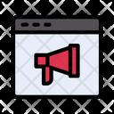 Online Advertising Online Marketing Online Icon